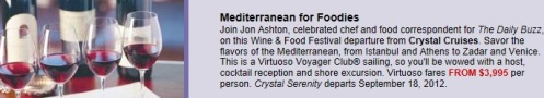 crystal cruises, cruise deal,  mediterranean vacation