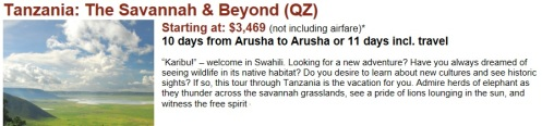 tanzania, safari, vacations, escorted  tour